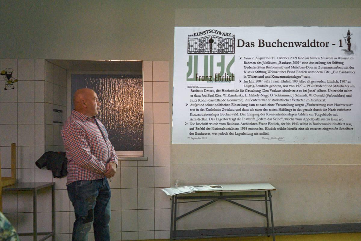 """Vortrag von Andreas Schwarz am Vorabend des Schmiedetreffens """"Gotha glüht"""""""